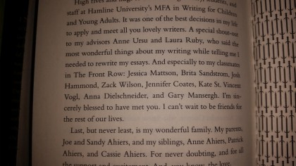 I'm in the acknowledgements. I'm kind of a big deal.