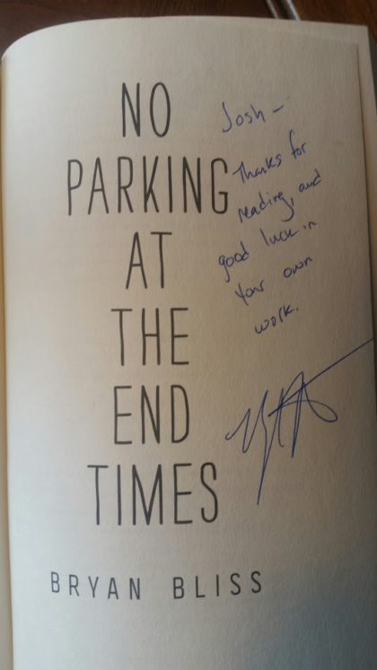 Signed copy. I'm kind of a big deal.